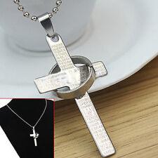 Ciondolo Pendente Cristo Croce Acciaio Collana Unisex Anello Regalo of