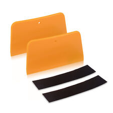 2 Trapezoid Squeegee with Fabric Felt for Car Vinyl Wraps Graphics Tool Soft PE