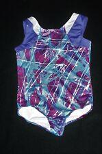 Girl Blue Purple Silver Capezio Future Star Gymnastics Leotard Size 7/8 M