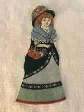 "Victorian Courtship Doll - 1 - Iron-On Fabric Appliques.. 6 1/2"" Tall.  (H)"