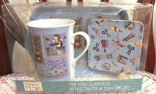 Debbie Mumm BEING CREATIVE CRAFTS Porcelain Mug Coaster Tray Gift Set New Sealed