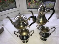 Antique Victorian silver plated tea and coffee set.  Complete Set