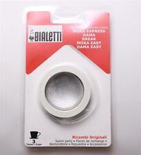 Bialetti Dichtung Alu Espressokocher 3 / 4 Tassen Dichtungen Sieb