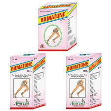 Rheumatoid Arthritis Osteoarthritis Leg Cramps Remedies Rumatone 60 Caps 2 Oil
