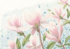 LANARTE  0149997  Magnolias  Kit  Broderie  Point de Croix  Compté  Lin