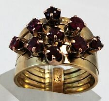 Ring Ruby 14k Yellow Gold Vintage & Antique Jewellery