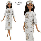 FA-026 Nightdress  blindfold for Barbie MTM Pivotal and similar 12'' dolls
