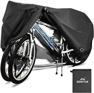 Silber  ODSPTER  Fahrradabdeckung 2  fahrräder  wasserdichte 210D  Oxford-Gewebe