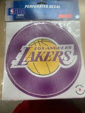 """NBA Los Angeles Lakers 12""""x12"""" Perforated Window Decal"""
