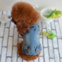 Jean Dog Jacket Fashion Pet Clothes Small Chihuahua Yorkie Apparel Puppy Coat