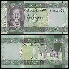 South Sudan 1 Pounds Banknote, 2011, P-5, UNC, John Garang