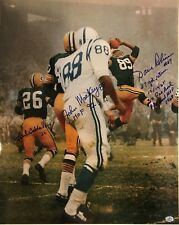 SIGNED 16x20 photo Dave Robinson, Herb Adderley, John Mackey with MULTIPLE Inscr