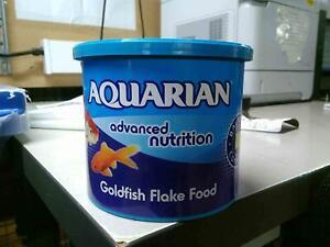 AQUARIAN, Aquarium Goldfish And Small Pond Fish Flake Food, 50 G Container