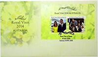 "2014 FDC Australia. Royal Visit Duke & Duchess Cambridge. M.S. Pict.FDI ""SYDNEY"""