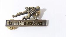 Brevet Militaire Sportif BMS # soldat avec équipement FAMAS -  échelon BRONZE