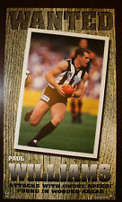 1990s Paul Williams Collingwood Club Ten Wanted Football poster Magpies