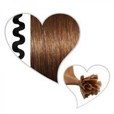 25 ondulado Mechas marrón dorado #07,55 cm,Extensiones de cabello Remy Ondulado,
