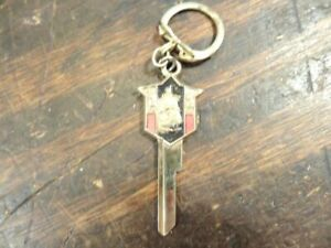 NOS Original Vintage 1956 & Up Plymouth Gold Key Blank & Chain Uncut S925