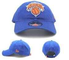 New York Knicks NY New Era 9Twenty Blue Orange Clean Up Textured 47 Dad Hat Cap