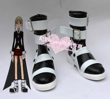 Soul Eater Maka Albarn Anime Black Cosplay Shoe Boots Any Size