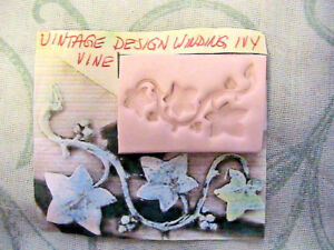 """*NEW* WINDING IVY VINE Hard MOLD~1-1/2"""" x 3/4"""" wide *RARE~Fimo~Clay~soap"""