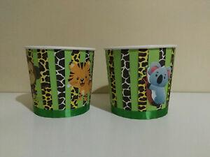 1 Contenitore popcorn set festa compleanno party sweet table animali giungla