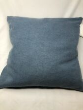 Ralph Lauren Faded Woven Cotton Throw Decorative Pillow Blue NEW 20x20 606