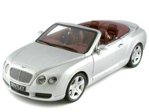 Scale model 1/18 BENTLEY CONTINENTAL GTC 2006 SILVER