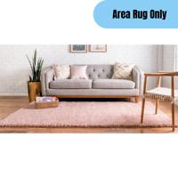 5 x 8 feet Contemporary Soft Shag Area Rug Home Living Room Accent Decor Pink