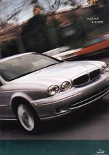 2002 JAGUAR X-TYPE Large Format 58 Page Prestige Brochure 2.5 & 3.0 V6 SE Sport