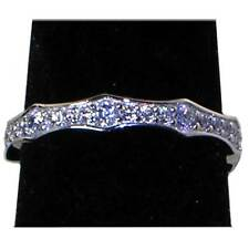 Brilliant Clear Cz Eternity Wedding Band Or Stack Ring_Sz-7_Nf Silver