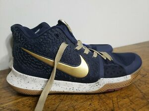 Nike Kyrie 3 Obsidian Navy 852395-400 Basketball Shoes Size 10.5 Men's
