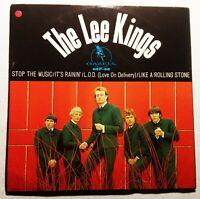 "THE LEE KINGS ""Stop The Music / It's Rainin'"" 45/PS Gazell (1966) RARE Beat"