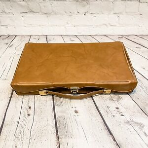 Vintage Coastar Deluxe Slide File Case Holder Brown Plastic Vinyl Padded