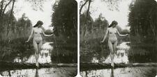 9 interessante Akt - Stereofotos, hübsche nackte nude Mädels um 1930, Lot 2