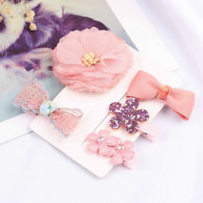 1set hairpin baby girl hair clip bow flower barrette kid infant accessories MW