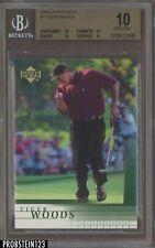 2001 Upper Deck Golf #1 Tiger Woods RC Rookie BGS 10 PRISTINE