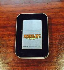 "Zippo Lighter The Beatles ""Help"" 2001 Design"