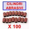 Fresa 100 pz Scovolini Abrasivi Lima Unghie Ricostruzione Ricambio Nail Art wr
