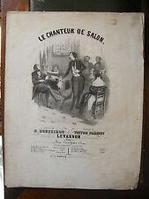 Partition Sheet Music 19 ème Siècle Le chanteur de salon Parizot Levassor