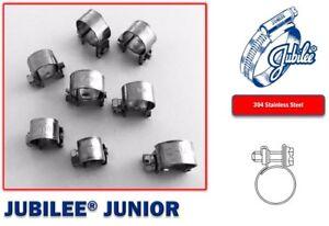 Stainless Steel Jubilee Hose Clip Mini Fuel Line Clamp Diesel Petrol Pipe Clamps