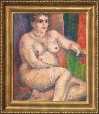 "Gustav Hessing (1909 - 1981) Romania/Austria Artist Oil ""Nude Woman"""