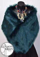 Australian Made Aqua Faux Fur Wrap Shawl Wedding Bridal by Lucy's Envy W102-17