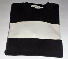 L.O.G.G. H&M Men's Fine-Knit Thick Cotton Blend Colorblock Pullover Sweater M
