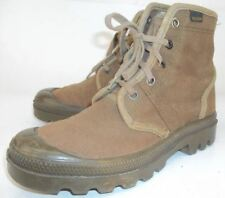 Palladium Womens US 5 5.5 EU 36 Green Canvas Military Lace-Up Ankle Combat Boots