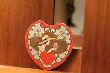 Circa 1920's Antique Valentine's Day Card Die Cut Embossed Lady