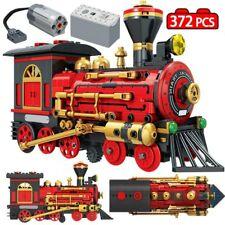 372pcs City Classical Red Train Model Building Blocks Bricks Technic Electric