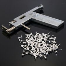 Pro Steel Ear Nose Navel Body Piercing Gun Kit Tool Set with Pack of 90 Studs