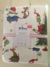 Pottery Barn Kids GRINCH & MAX  Christmas Holiday TWIN Cotton Flannel Sheet Set