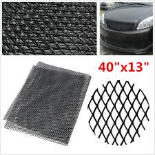 Rhombus Style Black Aluminium Racing Grille Mesh Net Car Tuning Grill 100cmX33cm